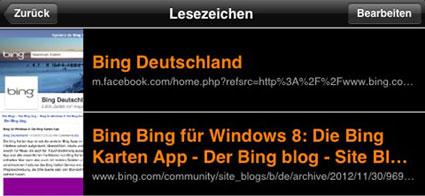 Schoenes Bing Bookmark Manager © Markus Klos/apfelmark