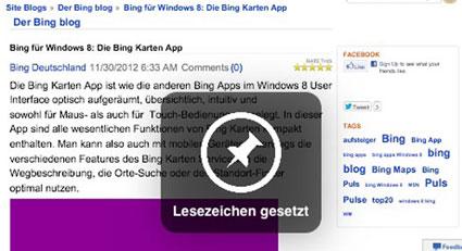Schoenes Bing Lesezeichen © Markus Klos/apfelmark