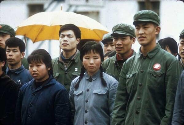珍贵旧影:美国学者拍1972年北京大学学生