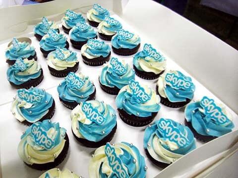 慶祝Skype 6週年的Cupcake