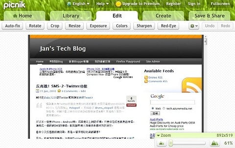 Picnik Extension for Chrome