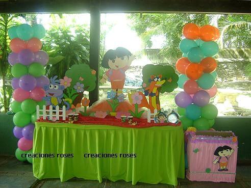 Decoración para fiesta Dora la exploradora - Imagui