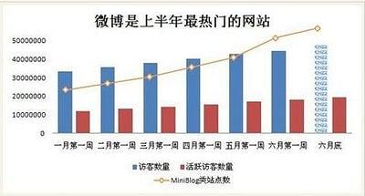 微博服務在2010上半年的走勢