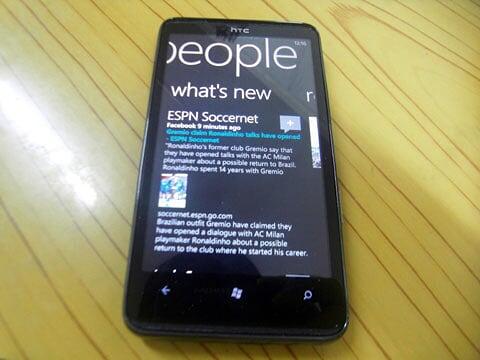 People Page on Windows Phone 7