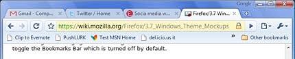 Header of Google Chrome Browser