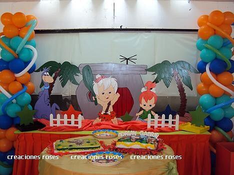 Decoracion De Fiesta De Pebbles Y Bam Bam