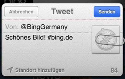 Schoenes Bing Twitter © Markus Klos/apfelmark