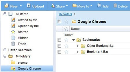 Google Chrome Sync-ing bookmarks to Google Docs