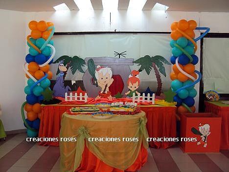 Decoraciónes de fiesta infantiles de bam bam - Imagui