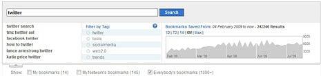 新的Delcious搜尋功能會顯示Bookmark的走勢