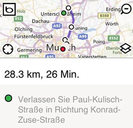 Schoenes Bing Routenplaner © Markus Klos/apfelmark