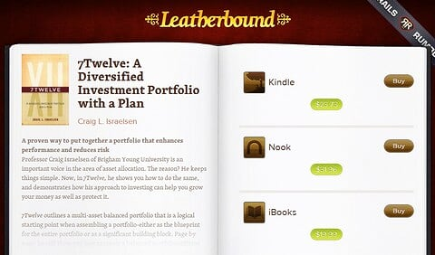 Leatherbound helps you check prices and availability of ebooks