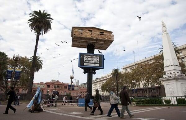 """阿根廷:总统府前建""""空中楼阁"""""""