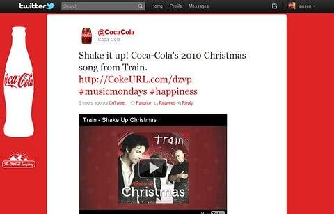 Coca Cola Promoted Tweet