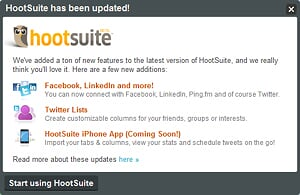 Hootsuite's New Features launched on 24 Nov 2009