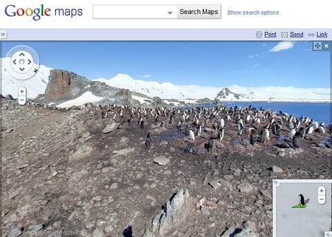 Antarctica on Google Maps
