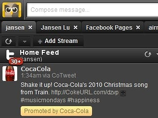 Promoted Tweet on Hootsuite