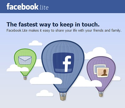Facebook Lite has launched