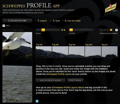 Schweppes Profile App for Facebook